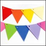 三角旗/造型PP板/顏色隨機出貨<海報佈置、卡片、筆記本、紙袋、紙藝作品、相簿、畫框、禮物包裝...等裝飾>
